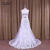 Elegant Sweet Heart Sashes Bridal Dress Wedding Appliques Lace Pearls Bridal Dresses 2017 Sheath Style Tulle