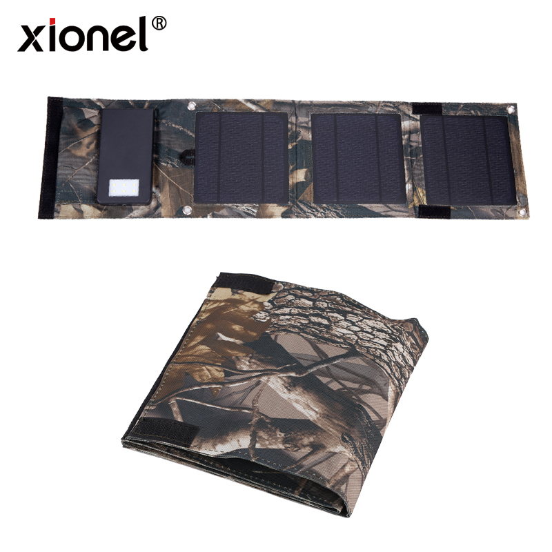 Solar Charger,Xionel 8W 10000mAh Portable Solar Power Bank Dual USB Solar Battery Bank for cell phone,iPhone,Samsung,Android 12w dual usb folding solar charger solar panel module power bank outdoor emergency cell phone charger voltage current display