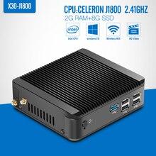 Mini PC, Caja de la tableta, celeron celeron N28402.16GHZ J1800 N2830 2G RAM, 16G SSD, WIFI, VGA, sin ventilador de la Placa, Cliente Ligero portátil