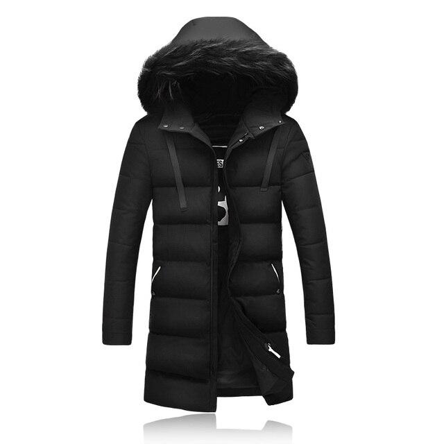 Hooded Fur Collar Long Wadded Winter Jackets Mens Parka Men Doudoune Homme Hiver Marque Winter Coat Men