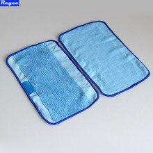 3Pcs / Lot Blue Washable Reusable Microfiber Mopping Cloths for iRobot Braava 380t 320 Mint 5200c 4200 Robotic Home Essential
