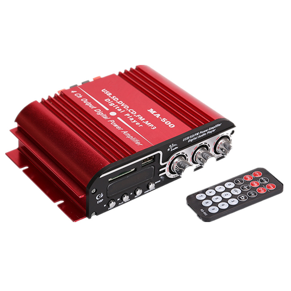 MA 500 Car Amplifier Low Power HIFI High power Four channel IC Support FM Radio