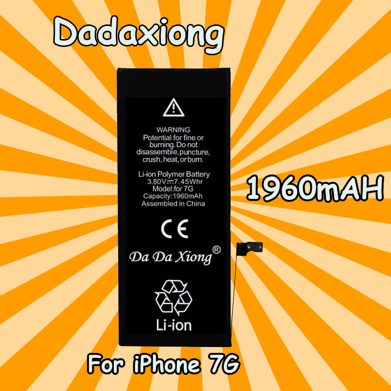 Da Xiong-Battery Zero-Cycle-Replacement iPhone Original for 7G 1960mah Real-Capacity