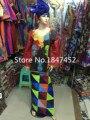 (Бесплатная Доставка) Новая мода традиционные Африканские женская одежда, хлопок вышитые с длинными рукавами платье платье M141