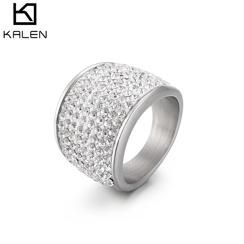 kalen high quality stainless steel rings for women fashion. Black Bedroom Furniture Sets. Home Design Ideas
