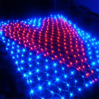 Thrisdar 2X2M Heart shaped LED Net Mesh Fairy String Light Icicle Curtain Window Fairy Light For Valentine's day Wedding Party