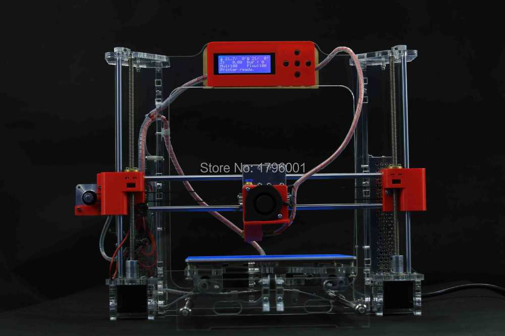 Acrylic Frame LCD Screen Acquired Reprap Prusa i3 desktop 3D Printer Machine High Precision impressora DIY Kit anet a2 high precision desktop plus 3d printer lcd screen aluminum alloy frame reprap prusa i3 with 8gb sd card 3d diy printing