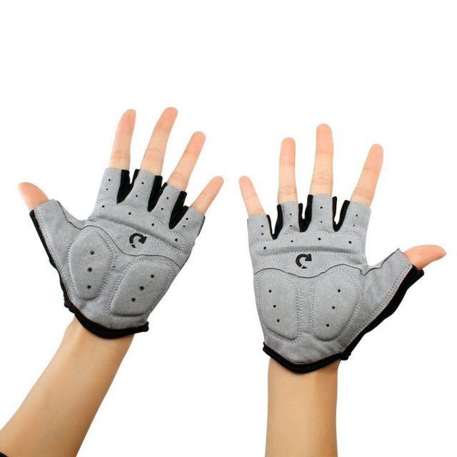 Men Sport Half Finger Anti Slip Pad Cycling Gloves Bike MTB Bike The Road Gloves Bicycle 3 Colors