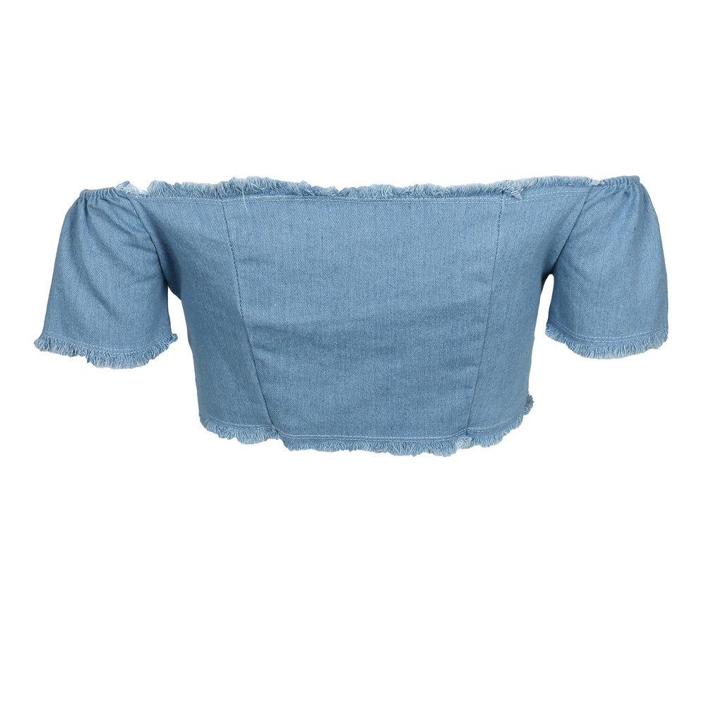 HTB1nAyUSpXXXXabXpXXq6xXFXXXZ - Off Shoulder BacklesS Denim Crop top JKP059