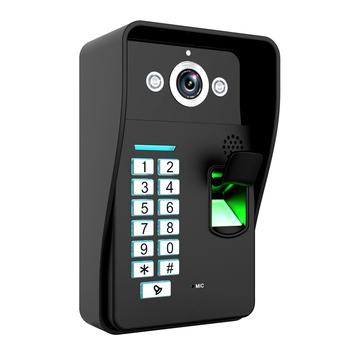 Hurtownie rozpoznawanie linii papilarnych WiFi bezprzewodowy wideodomofon dzwonek domofon IR RFID kamera darmowa wysyłka tanie i dobre opinie SYWIFI007 CMOS wireless MOUNTAINONE Wejście Maszyna 12V 2A Do Montażu na ścianie DIGITAL color Brak 420 linii tv TELEPHONE