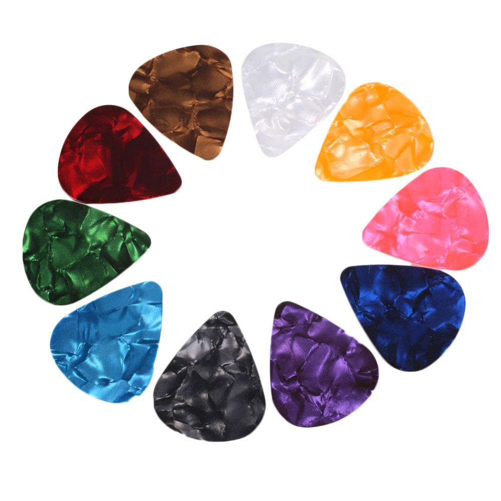 100 Unids Multicolor Guitar Picks 0.71mm Púas Parte de Instrumentos Musicales Co