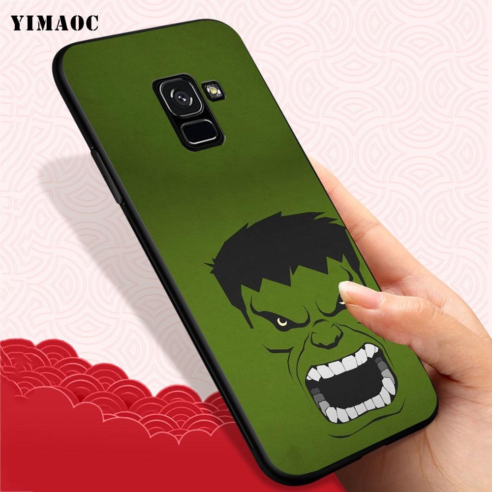 YIMAOC hulk Soft Case for Samsung Galaxy A3 A5 A6 A7 A8 A9 Plus Note 8 9 A10 A30 A40 A50 A70 in Fitted Cases from Cellphones Telecommunications