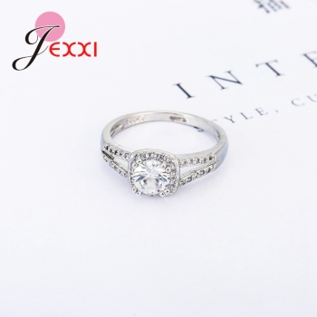 Dainty Top Quality Trendy Romantic AAA Cubic Zirconia Women Wending Ring Design 925 Sterling Silver Engagement Jewelry 1