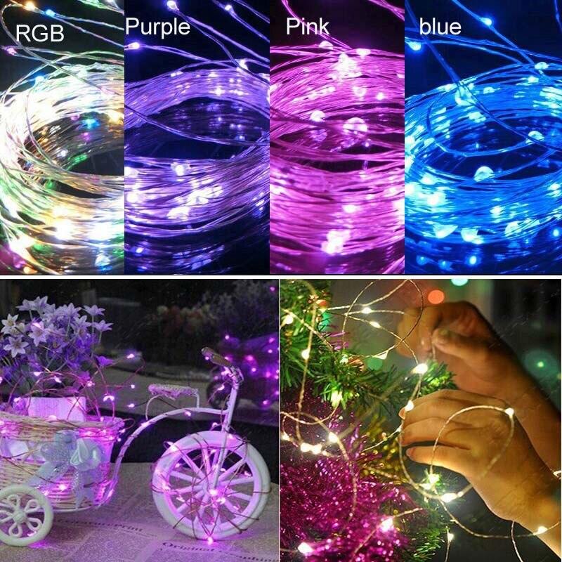 10m 100leds Koppar Wire LED StarryLights 12 V DC LED String Light, - Festlig belysning - Foto 6