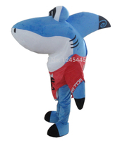 Cute Shark Mascot Costume With Funny Eyes For Adult for Halloween party costumes