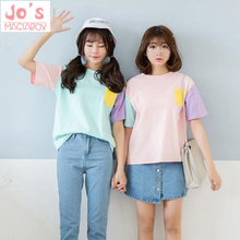 2017 Summer Style Fashion Harajuku Women T Shirts Kawaii Cotton Short Sleeve tshirts Ladies Cute Tops Tee Top Pink Shirts