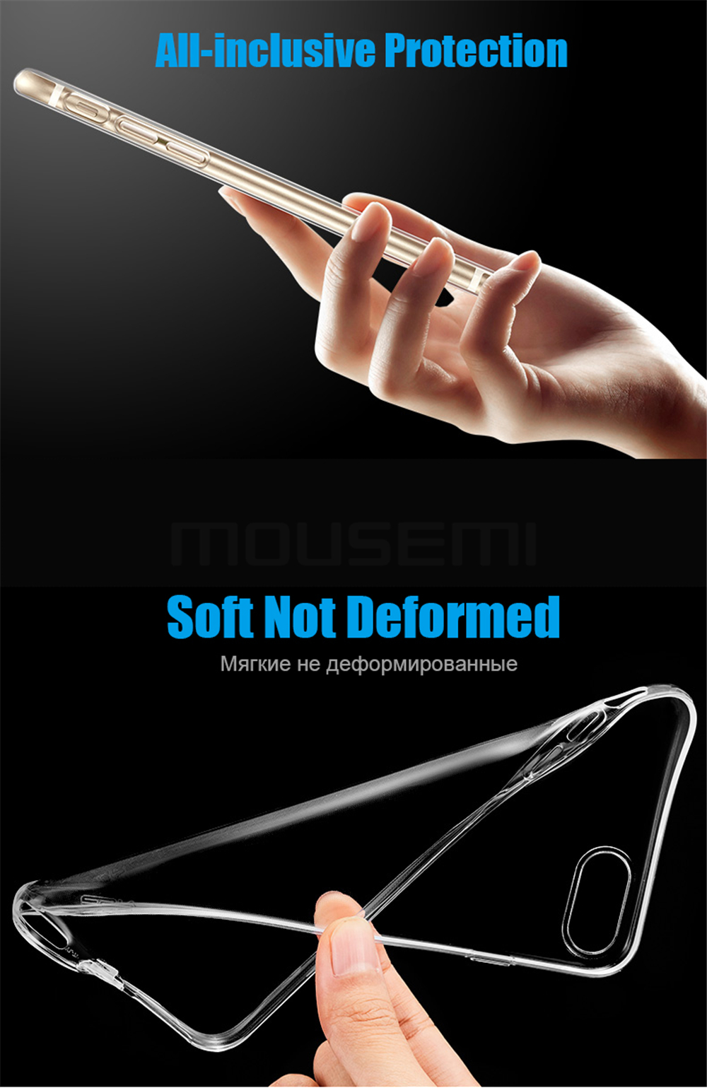 MOUSEMI For iPhone 6 Case Silicone Transparent 6S For iPhone Case Luxury TPU Coque Clear For iPhone 6 6s Plus Phone Cases Cover (2)