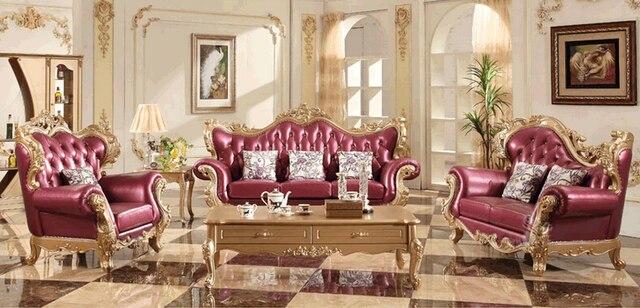 Luxus Wohnzimmer Sofa Genunine Leder 3 Sitzer Sofa Set Für Wohnzimmer Möbel