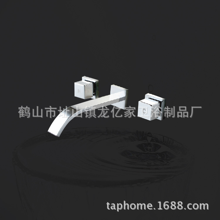 Long one hundred million sanitary dark wall mount faucet chrome faucet waterfall basin taps all copper