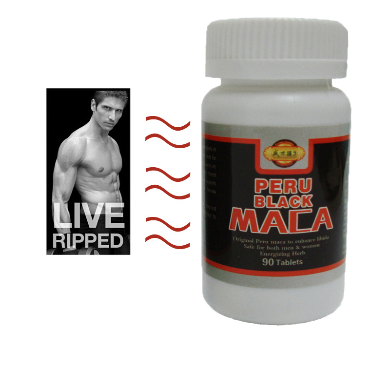 (Order 2 bottles to get 1 more bottles free) Maca Top Quality 90 Pills/Bottle 100% Pure Black Maca Root Tablet Lepidium Meyenii