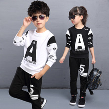 Children Clothing Sets For Boys Clothes Cotton Letter Sports Suits Long Sleeve Teenagers Tracksuits Spring Autumn School Unifor