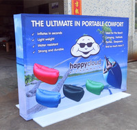 Latest Hot Sale Portable Banner Fabric Pop Up Display Stand Trade Show Billboard Easy Up Foldable Tension Advertising Banner