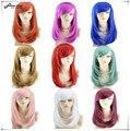 Горячие Продажи Прически для Среднего Прямые Волосы Аниме Косплей Парик Peluca Высокое Качество Японской Женщины Синтетические Волосы Плутон 9 цветов
