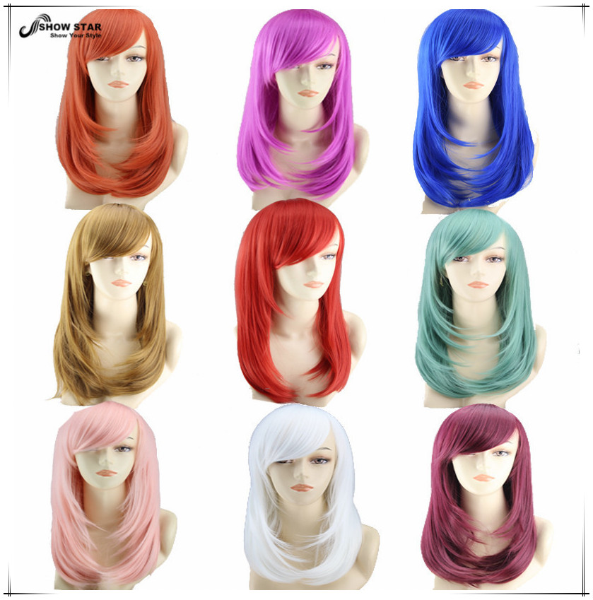 Hot Sale Hairstyles for Medium Straight Hair Anime Cosplay Wig Peluca High Quality Japanese