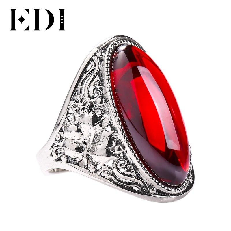edi 925 sterling silver natural garnet adjustable ring for. Black Bedroom Furniture Sets. Home Design Ideas