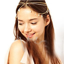 2013 New Arrive Exaggerated personality leaves stretch metal rhinestone headband