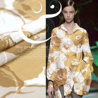 The Cool Summer Green Forest Aesthetic Digital Printing Ink Silk Cotton Cloth Thin Fabric Width