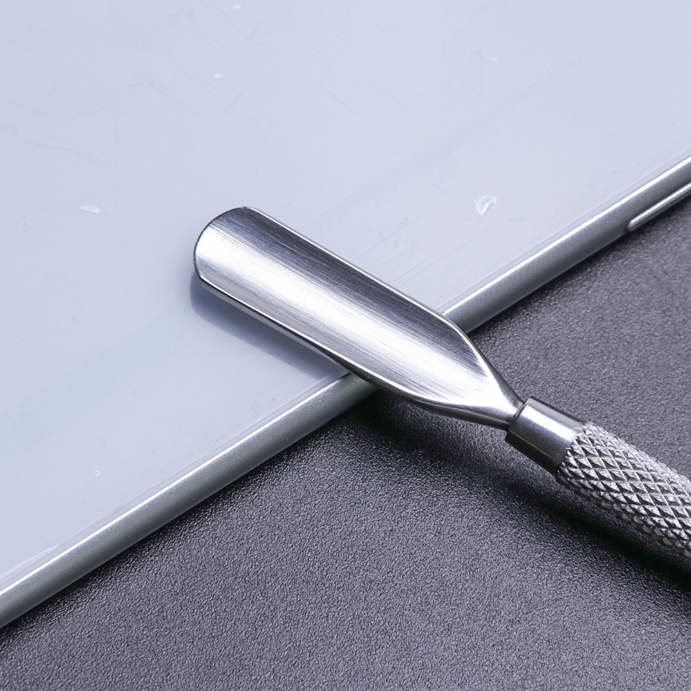 Image 5 - 1pcs Dual end Stainless Steel Nail Cuticle Pusher Spoon Remover Trimmer Dead Skin Manicure Pedicure Cleaner Nail Tool JI34 43-in Cuticle Pushers from Beauty & Health