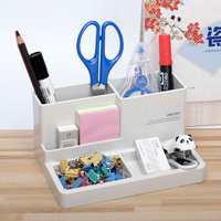 1 Pc Pen Stand Holders Square Type Modern Type Big Capacity Plastic Dest Stationery Holder 125x183mm