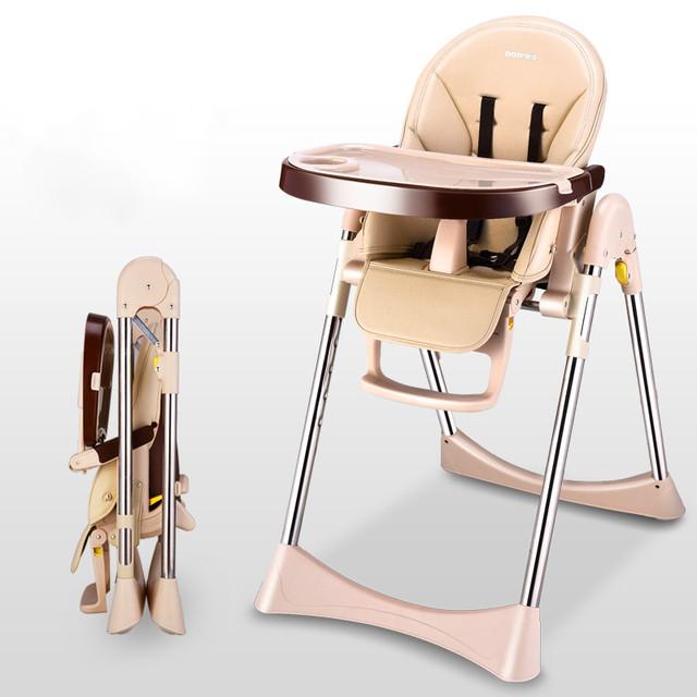 Alta Qualidade Bebê Cadeira Alta Cadeira de Alimentação Do Bebê Multifuncional Portátil Dobrável Cadeira de Mesa Cadeira De Jantar Assento Para Bebês C01