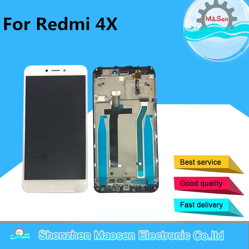 Original M&Sen For 5.0 Xiaomi Redmi 4X LCD Screen Display+Touch Panel Digitizer Frame For Redmi 4X Assembly Lcd 10 Touch Screen