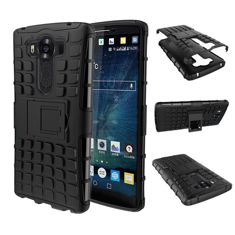 Heavy Duty Rugged Armor <font><b>Case</b></font> For <font><b>LG</b></font> G3 G4 <font><b>G5</b></font> G6 Leon G4C Magna G4 Mini Hybrid Shockproof Hard Cover <font><b>Phone</b></font> Coque With Kickstand