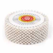 цены 2018 35mm 480pcs/Set White Round Head Dressmaking Pearl Decorating Sewing Pin Craft For Home Decorative DIY Crafts Accessories