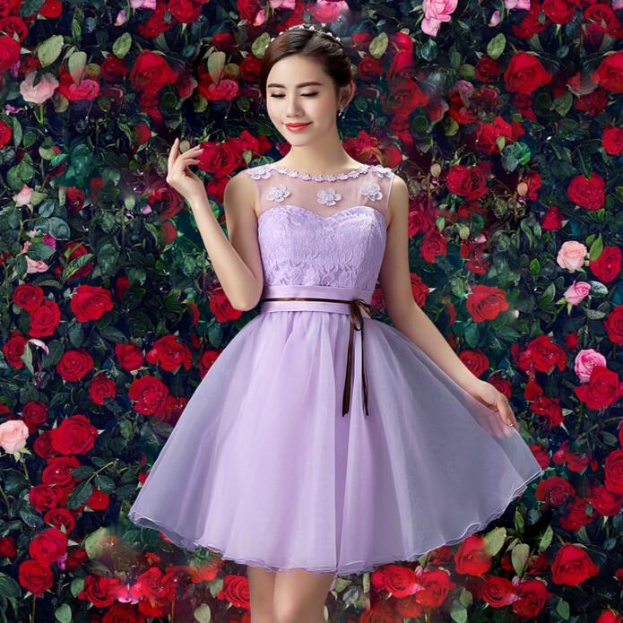 lilac cute bridesmaid robes teen girl dress party fashion brides ...