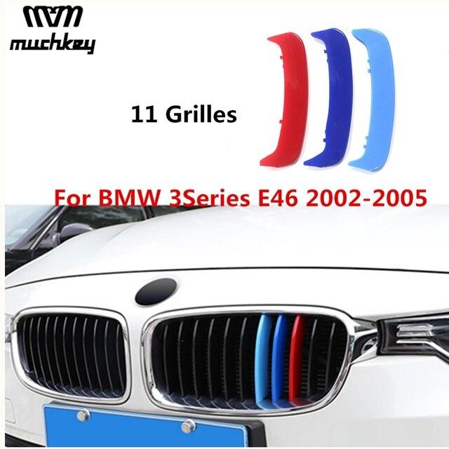 Bandes de garniture de Grille | Autocollant 3D pour BMW série 3 2002 à 2005 E46 316i 318i 320i 325i 328i 330i 323i 11 Grilles