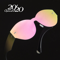 20 20 Brand Sunglasses Women Shades Men Retro Flat Top Round Design Vintage Female Sun Glasses