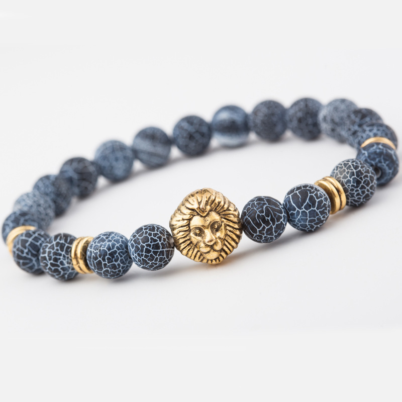 Mdiger New Fashion Clic Lionhead Simple Handmade Bracelets Alloy Stone Bracelet High Quality Charm In 4 Colors From Jewelry