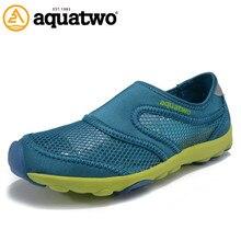 Hot Sale 2016 AQUA TWO Outdoor Shoes Breathable Trekking Walking Slip On Mesh Shoes For Men US5.5-10# Shoes Men Summer Shoes