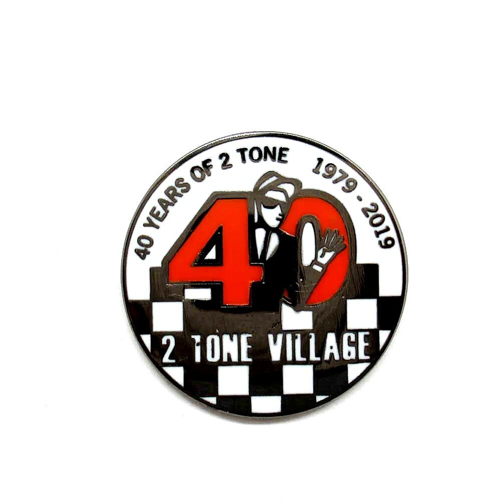Customized metal 40 YEAR Tone HARD enamel pin badge