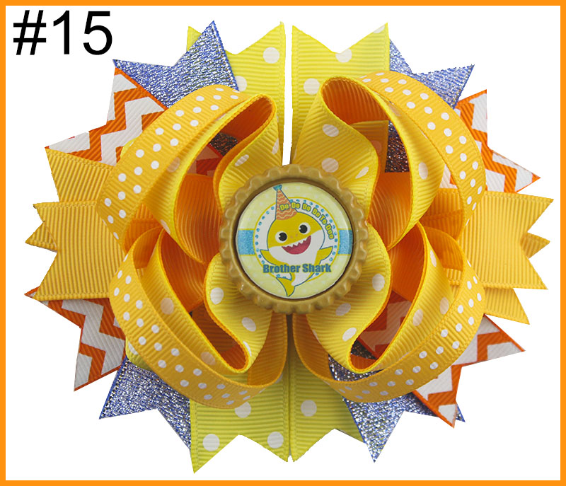 24 шт. мультфильм банты для волос с Детские Луки куклы зажимы девушка волосы луки для детей девушка волосы - Цвет: 20181229015