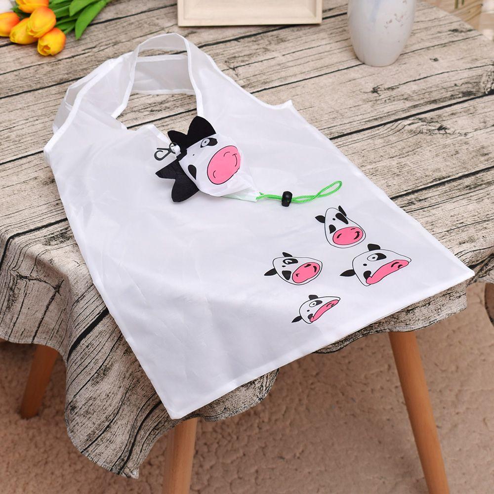 1 Pc Mode Weiß Wasserdichte Nylon Einkaufstasche Eco Faltbare Mehrweg Handtasche Bequemlichkeit Lebensmittel Lagerung Tasche