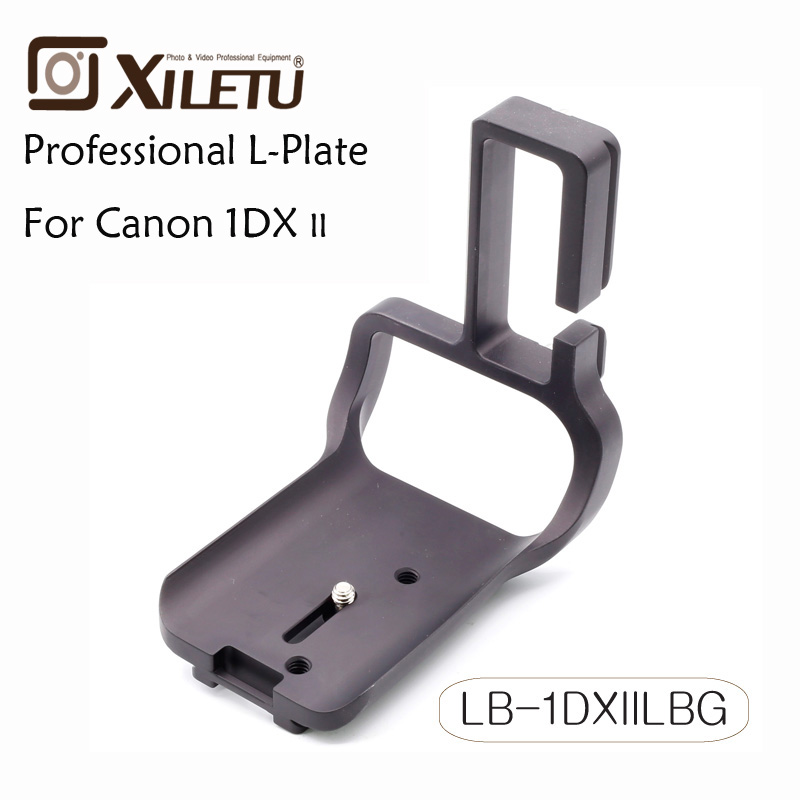Xiletu LB-1DXIILBG Black Metal Universal Quick Release Plate with 1/4 Screw For Canon EOS 1DX II 2  Arca Standard hongdak rs 60e3 universal convenient cable release for canon dslr black