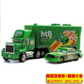 McQueen 2 unids/set Cars CHICK HICKS #86 y MACK Superliner Truck con Racing Car Diecast Metal de la Aleación de Camión combinación 1:43 Juguete