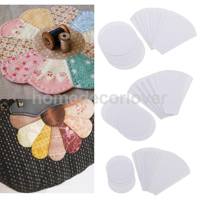 40 Pieces Flower Shape Paper Quilting Templates Patchwork Template For Sewing Craft