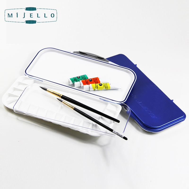 Korean Mijello FUSION 18 Airtight/Leak-Proof Watercolor PaletteSquare Color Mixing Box Drawing Tools Art Supplies MWP-3018 paint palette color mixing tray drawing utensil
