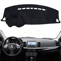For Mitsubishi Lancer Ex Evo 2007 - 2013 Flannel Dashmats Car-styling Accessories Dashboard Covers Dash Pad  2008 2009 2010 2011